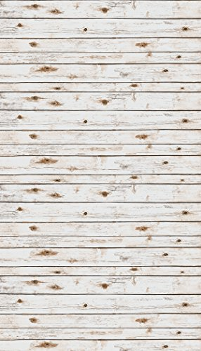 12' Heavy Paper - Ella Bella Photography Backdrop Paper, White Washed Wood, 48