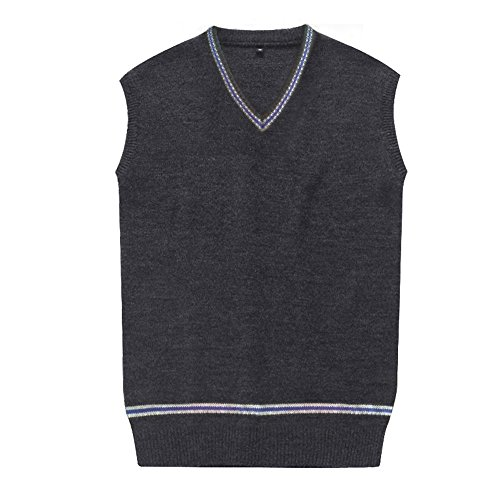 Unisex Vest (WOTOGOLD Cosplay Costumes unisex Vest Sweater Fall and Winter Waistcoat Blue, XX-Large)
