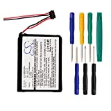 600mAh Replacement 361-0043-00, 361-0043-01 Battery for Garmin Edge 200, Edge 205, Edge 500 Navigators With Tool Kits