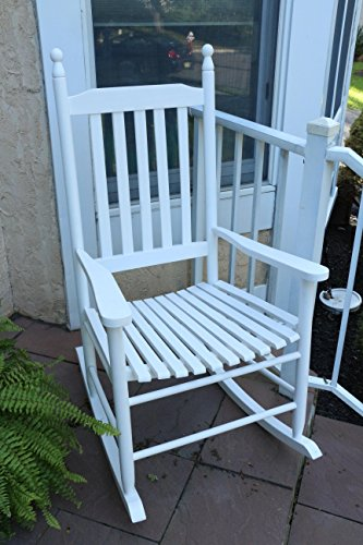 Oliver and Smith - Nashville Collection - Wooden White Patio Porch Rocker- Rocking Chair - Made in USA - 24.5  ... : white porch rocking chair - Cheerinfomania.Com