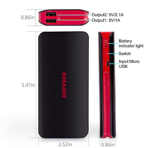 KMASHI External Battery Power Bank, Portable