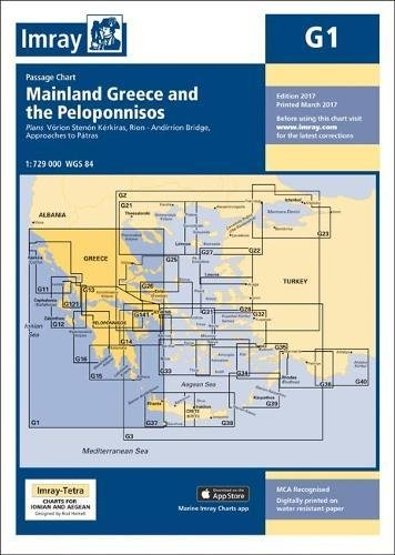 Imray Chart G1: Mainland Greece and the Peloponnisos (G Series)