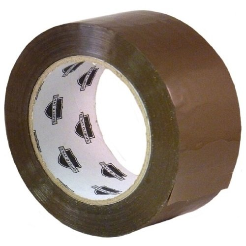 (144) Tan Hotmelt Packing Tape 3'' x 110 Yards 2.5 Mil Box Shipping Tapes 144 Rolls (6 Cases) by PackagingSuppliesByMail