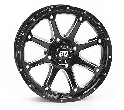 Bundle - 9 Items: STI HD4 14'' Wheels Black 31'' MotoHammer Tires [4x156 Bolt Pattern 12mmx1.5 Lug Kit]