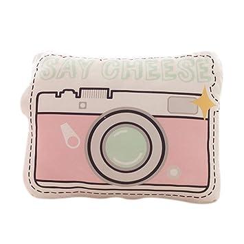Amazon.com: Nunubee Short Plush Camera Shaped Throw Pillows ...