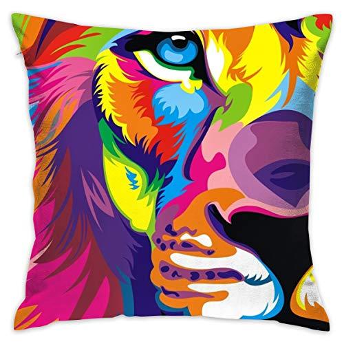 Karen Felix Throw Pillow Covers Lion Big Cat Decorative Cushion Case for Sofa Bedroom Car 18 X 18 Inch 45 X 45 -
