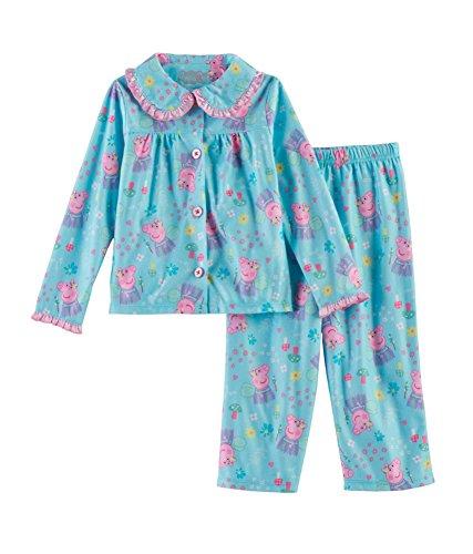Peppa Pig Toddler Girls 2-pc Top & Pants Pajama Set, Blue (2T)