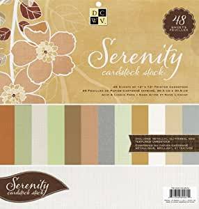 Die Cuts with A View 12-inches by 12-inches Solid Cardstock Stack, Serenity