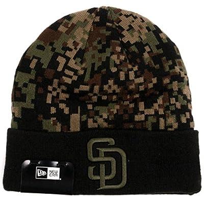 "New Era ""Print Play"" San Diego Padres Knit Beanie Hat (Digi Camo) MLB Cuffed Cap"