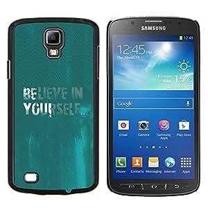 Caucho caso de Shell duro de la cubierta de accesorios de protección BY RAYDREAMMM - Samsung Galaxy S4 Active i9295 - Crea en sí mismo cita de motivación de la turquesa