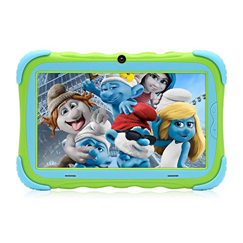 Tablet 7 inch for Kids Google Android 7.1 Quad Core 16GB IPS HD Screen Wi-Fi Bluetooth and Dual Cameras GMS Certified with Kids Proof Case - Green