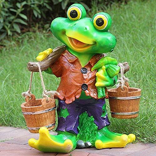庭の装飾品カエル狩り彫刻防水FRP庭の像庭風景芝生工芸装飾ギフト-48 * 23 * 50 cm B-48 * 23 * 50 cm