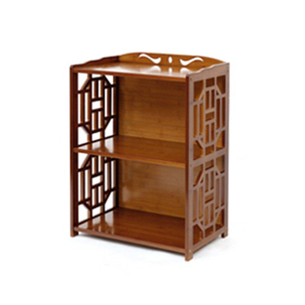 422970cm Shelves ZHANGRONG- Brown 2 3 4 5-tier Retro Bamboo Bookcase Living Room Landing Locker Simple Bookshelf - Wall decoration (Size   4229100cm)
