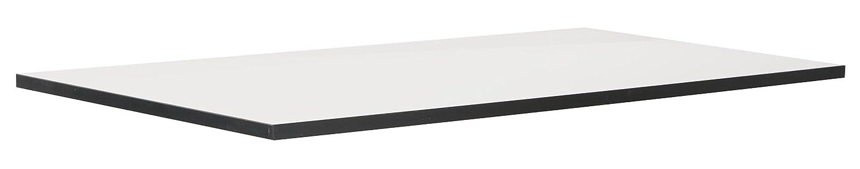 Phö nix 616230WES piano per tavolo Chicago, adatto per l'intera serie Chicago, 120 x 2,5 x 70 cm, colore: bianco con bordi neri adatto per l' intera serie Chicago Phönix