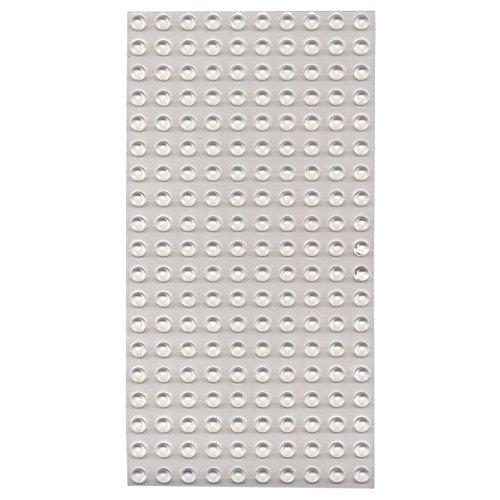Bump Dots- Round-Flat Top-Clear-Medium-200pk by MaxiAids