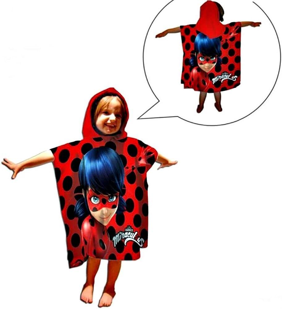 Poncho toalla Prodigiosa Ladybug: Amazon.es: Juguetes y juegos