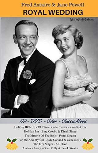 Fred Astaire-ROYAL WEDDING-1951 Movie Classic DVD-5 BONUS Old Time Radio Shows Audio CD's-Bing Crosby