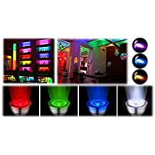 Excellent 4x GU10 3W 16 Color Changing RGB LED Light Bulbs Spotlight + Remote Control