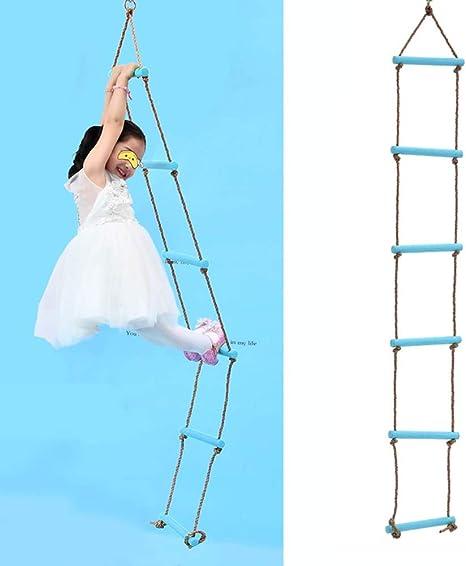 Escalera De Cuerda, Trapecio De Plástico Y Columpio Escalera De Cuerda Gigante De 6 Nudos Escalera