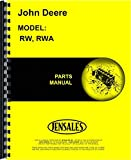 John Deere RW RWA Disc Harrow Parts Manual (RW Disc Harrow | RWA Disc Harrow)