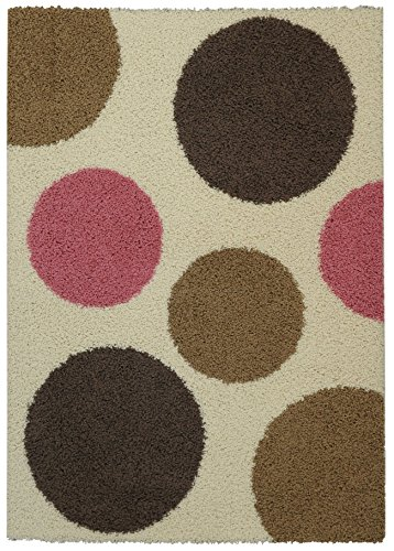 Maxy Home Bella Multicolor 3 ft. 3 in x 4 ft. 8 in. Shag Area Rug (Rag Shag)