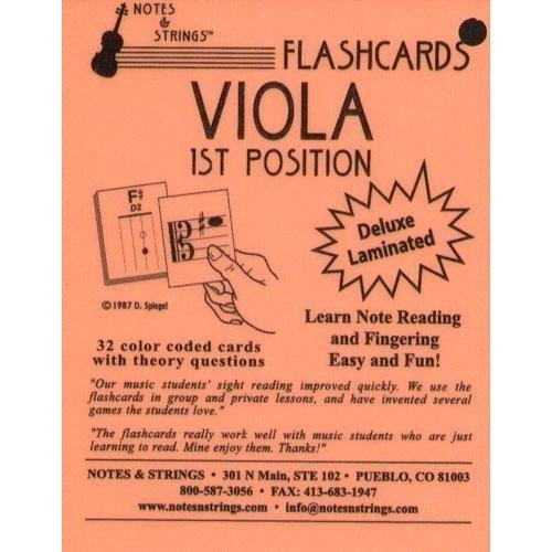 Laminated Viola Flash Cards Flashcard product image