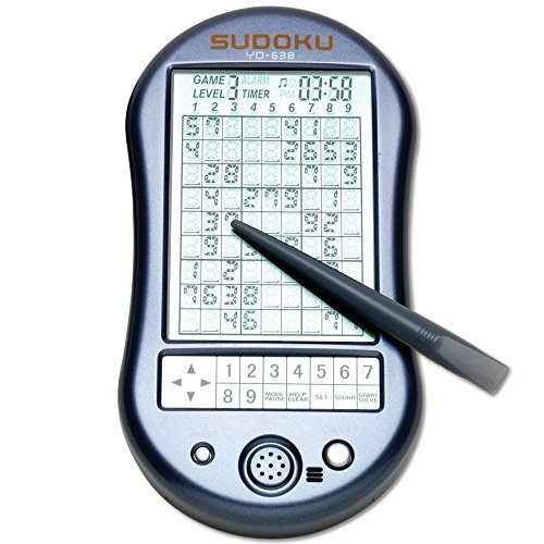 Sudoku Electronic Touch Screen - Bits and Pieces - Deluxe Sudoku Handheld Game - Electronic Pocket Size Sudoku Game, LED Screen, Great Gift - Measures 2-3/4