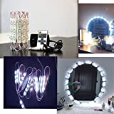 Upgraded Led Vanity Makeup Lights Kit, 60 Leds 9.8FT DIY Make-Up Mirror Light for Cosmetic Mirrors with Remote Control and Power Supply