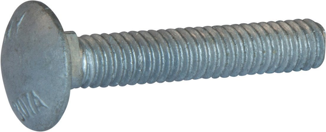 Pack of 25 1//2-13 Thread Size 6 Long Asymmetrical 1//2-13 Thread Size 6 Long Pack of 25 Brighton-Best International 490077 Round Low-Strength Square-Neck Carriage Bolt Steel