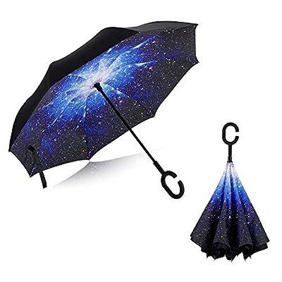 Inverted Umbrella, Alink Reverse Folding Double Layer Inside Out Outdoor Rain Away Car Umbrella
