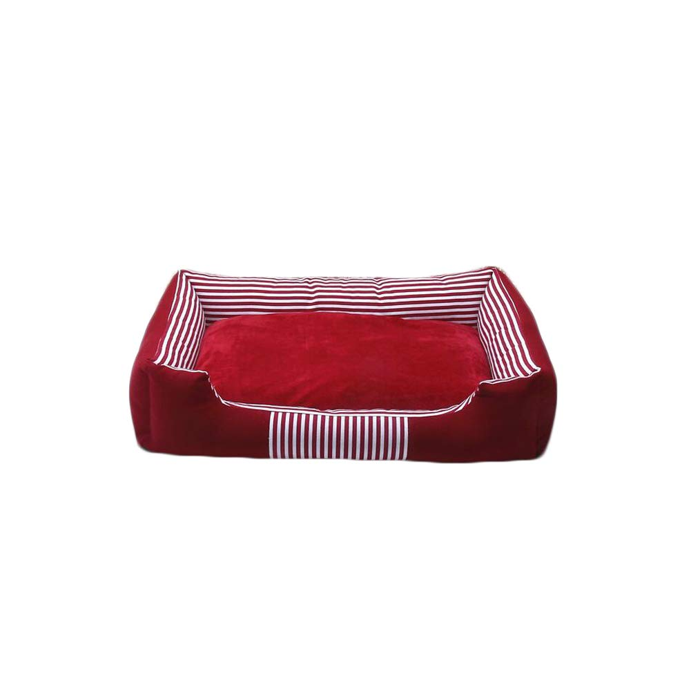 Red S Red S Dog Bed, Remable and Wasable Canvas Pet Nest, Four Seasons Universal Large, Medium and Small Dog Mat Bed
