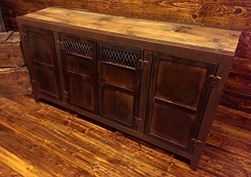 Rustic Industrial media console (Console Evolution)