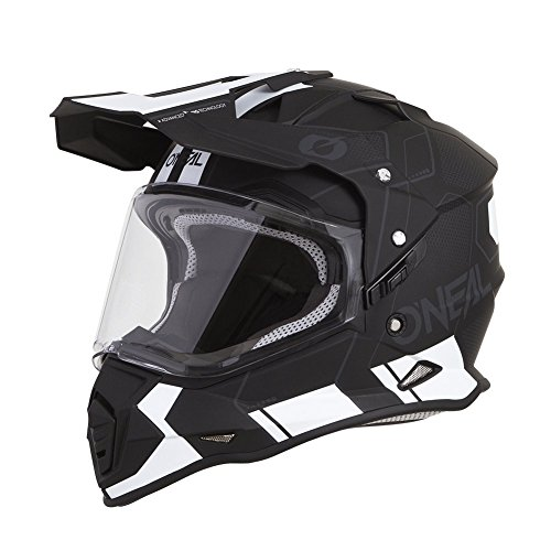 O'Neal Unisex-Adult Off Road SIERRA II Helmet (COMB) (Black/White, Large)