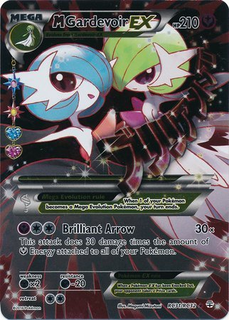 Fairy Art Card - Pokemon - Mega-Gardevoir-EX (RC31) - Generations - Holo