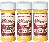 Amish Country Popcorn - Ballpark Butter Salt 6 oz with Recipe Guide - Package of 3 - with Recipe Guide -1 Year Freshness Guarantee