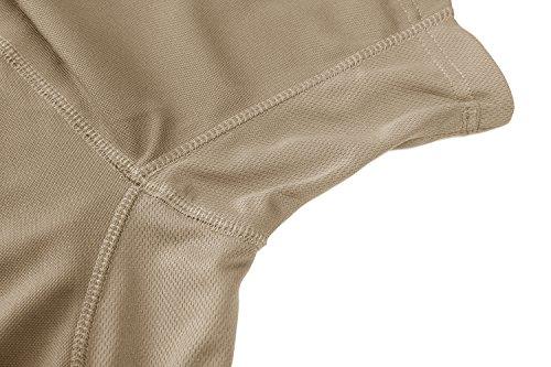 TACVASEN Homme Outdoor T-Shirt Respirant Randonnée décontractée Chemise de Sport avec Poche zippée 4