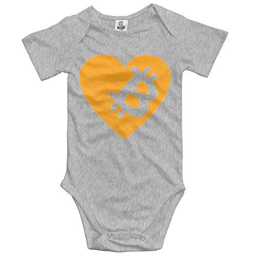 PaBa Bitcoin Coin Short Sleeve Baby Boy Clothes One-Piece Bodysuit Jumpsuit (Economy One Piece)