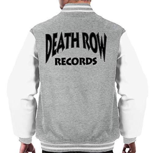 Death Row Recrods Logo Black Men's Varsity Jacket (Tupac Varsity Jacket)