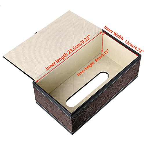 Leather Tissue Box With Magnetic Closure Design Cover Car Home Napkin Paper Case