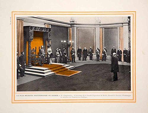 1913 Color Print Kaiser Wilhelm II German Emperor Empress Royal Court Germany - Original Color Print (King Of Prussia Court)