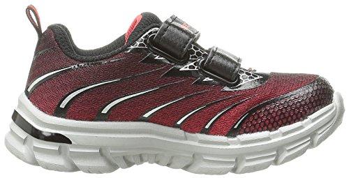 Skechers Meisjes Nitraat Sneaker, Houtskool / Zwart Rood / Zwart