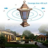 Wrcibo Mosquito Killer and Bug Zapper Electric Indoor Outdoor Insect Killer Solar Power Light 2 in 1 with Lighting and Pest Control