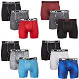 HEAD Mens Performance Boxer Briefs - 12-Pack Athletic Fit Breathable Tagless Underwear