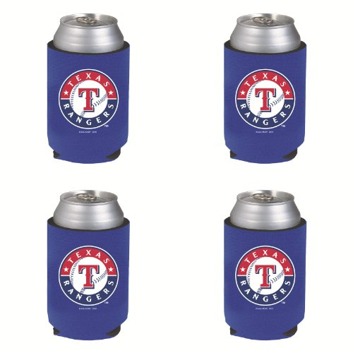 - MLB Texas Rangers Can Koozie 4 pack