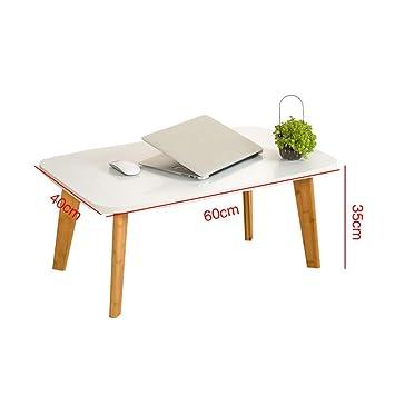 Mesa cuadrada pequeña, mesa de escritorio portátil mesa pequeña ...