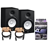 Pair of Yamaha HS8 Studio Monitors w/ (2) 10' XLR Cables and MoPad Monitor Pads