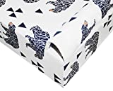 SLEEPING LAMB 100% Cotton Fitted Crib Sheet for Boy and Girl, Nursery Bedding Fits Standard Crib or Toddler Bed Mattresses (52x28x9 Inch)