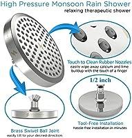 Easy Too High Pressure Rain Shower Head Luxury Modern Chrome Look