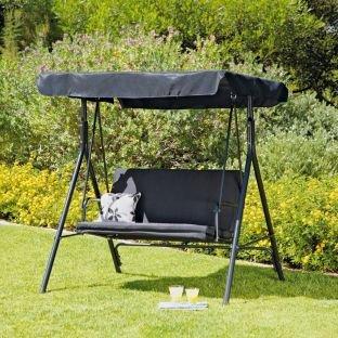 Argos 2 Seater Garden Swing Chair Black Amazon Co Uk Kitchen Home