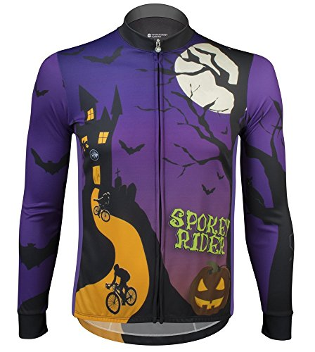 Halloween Spokey Rider Long Sleeve Jersey - Made in The USA (X-Large)]()